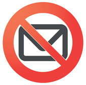 Email ban. Image courtesy of Shutterstock