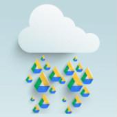 Raincloud and Google Drive composite. Cloud image courtesy of Shutterstock
