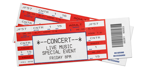 Tickets. Image courtesy of Shutterstock