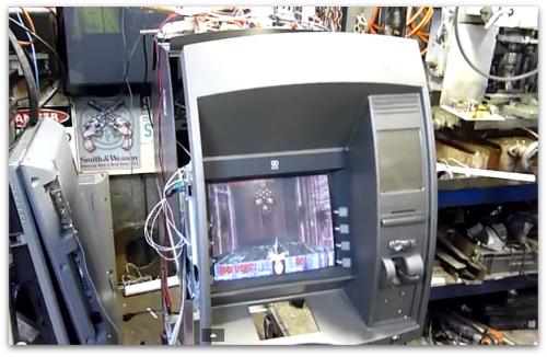 Still from YouTube video - Doom on an ATM - Aussie50