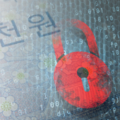Composite image of padlock and Korean Won note courtesy of Shutterstock