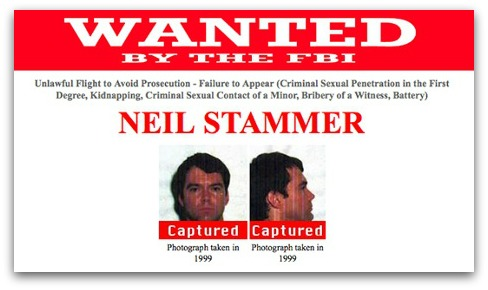 FBI Wanted poster, Neil Stammer