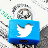 Twitter privacy and padlock. Padlock courtesy of Shutterstock