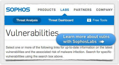 Click to visit our Vulnerabilities page...