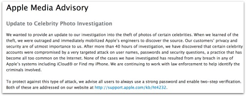 Apple Media Advisory