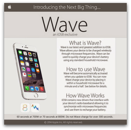 Bogus Apple Wave marketing materials