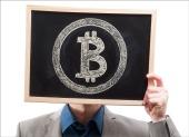 Bitcoin board. Image courtesy of Shutterstock