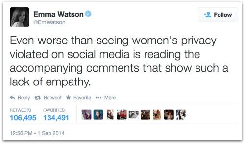 Emma Watson tweet