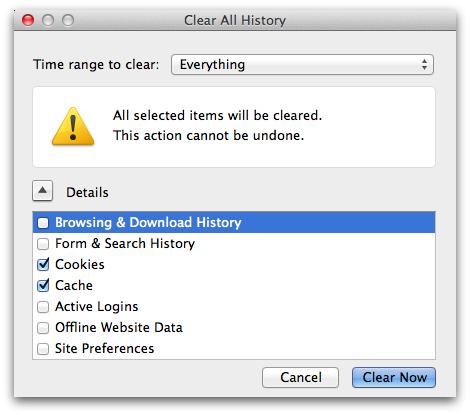 Firefox - history