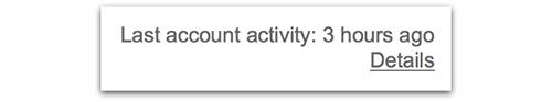 Last account activity