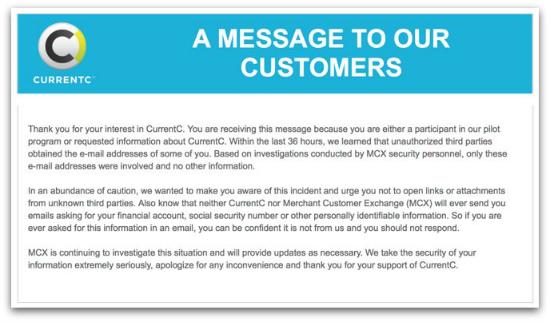 MCX message