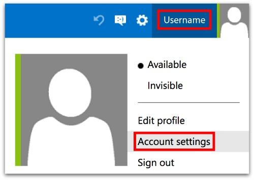 Account Settings in Outlook