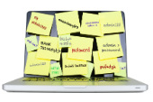 Image of sticky notes on computer courtesy of Shutterstock
