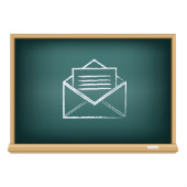 Image of email on chalkboard courtesy of Shutterstock