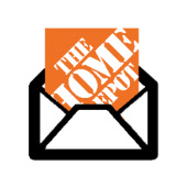 Home Depot logo and email icon