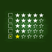 One star review. Image courtesy of Shutterstock