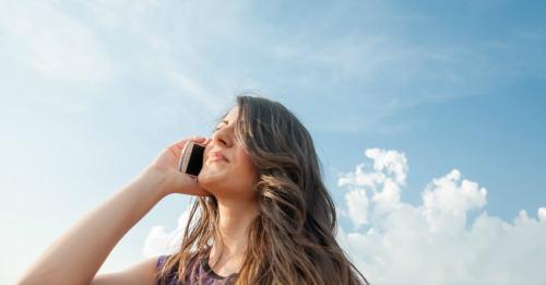 Girl on phone. Image courtesy of Shutterstock