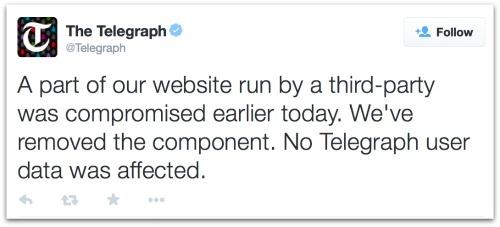Telegraph tweet