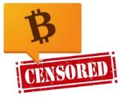 Bitcoin censor. Image courtesy of Shutterstock