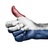 Image of Dutch citizen thumbs up courtesy of Shutterstock