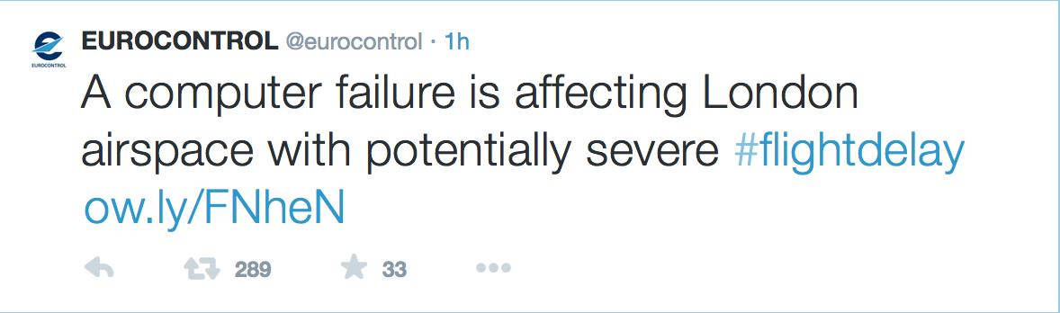 Eurocontrol Tweet