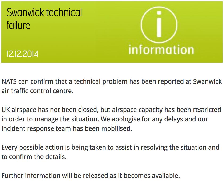 Swanwick Technical Failure