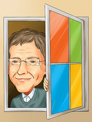 Bill Gates drawing courtesy of InsiderMonkey.com