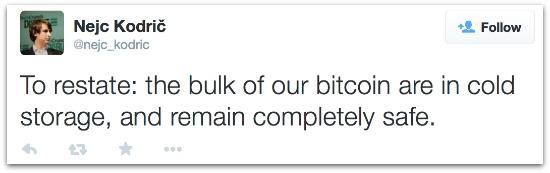 Bitstamp CEO tweet