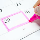 Image of calendar courtesy of Shutterstock