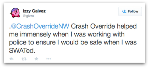 Twitter screenshot of Crash Override