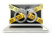 Crime laptop. Image courtesy of Shutterstock