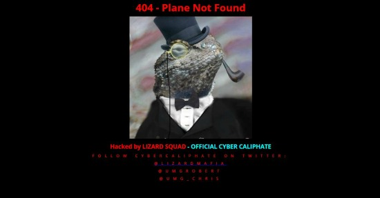 Malaysia airlines hacked page