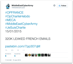 Middle East Cyber Army leaked emails