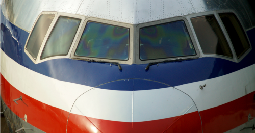 American airlines plane. Image courtesy of anderm/Shutterstock.