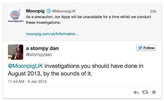 Response to moonpig on twitter