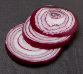 Sliced onion. Image courtesy of Shutterstock.