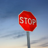Image of Stop sign courtesy of Shutterstock