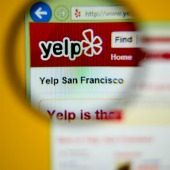 Yelp. Image courtesy of Shutterstock