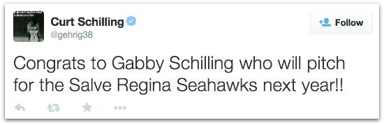 Curt Schilling tweet