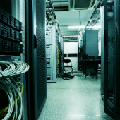 Image of data centre, courtesy of Shutterstock