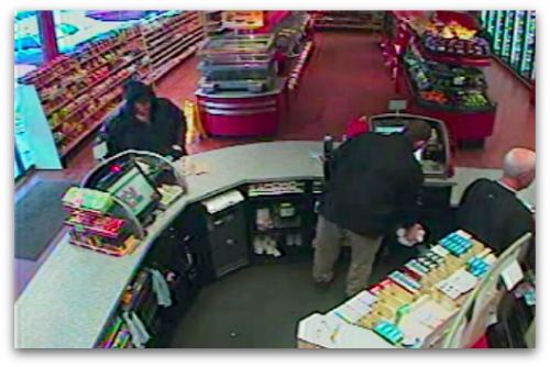 CCTV of lotto ticket purchase