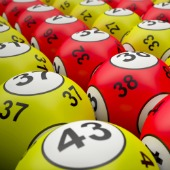 Lottery balls. Image courtesy of Shutterstock