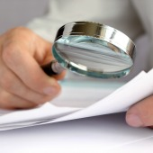 Magnifying glass. Image courtesy of Shutterstock
