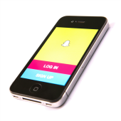 Snapchat app on smartphone - image courtesy of Shutterstock.com.