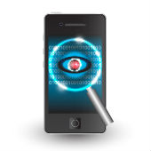Image of mobile spyware courtesy of Shutterstock