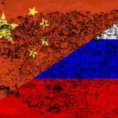 Russia, China flags, courtesy of Shutterstock