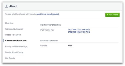 Facebook contact preferences
