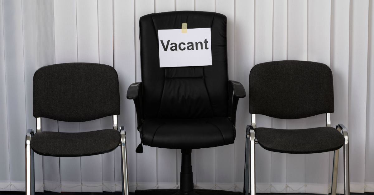 Vacant chair. Image courtesy of Shutterstock.