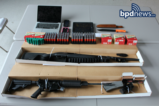 Boston police photo of weapons