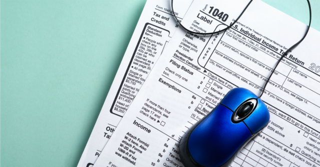 Online taxes. Image courtesy of Shutterstock